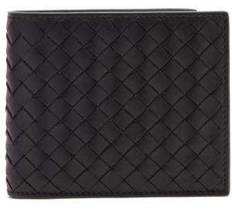 Bottega Veneta Intrecciato Bi Fold Leather Wallet - Mens - Black Multi