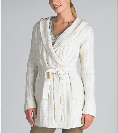 Cable Knit Long Wrap Cardigan