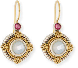 Konstantino Hestia Round Mother-of-Pearl Drop Earrings