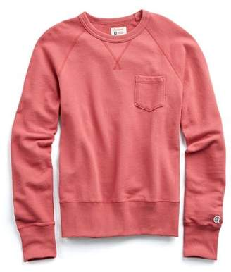 Todd Snyder + Champion Classic Pocket Sweatshirt in Nantucket Red