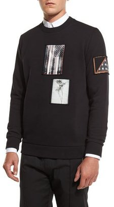 Givenchy Cuban-Fit Photograph Patch Sweatshirt, Black $855 thestylecure.com