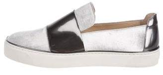 Stuart Weitzman Velvet Slip-On Sneakers