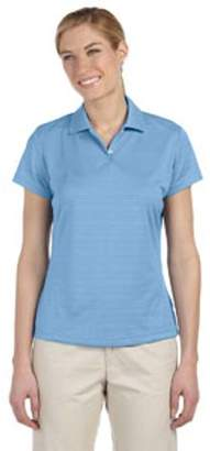 adidas Ladies' climalite Textured Short-Sleeve Polo