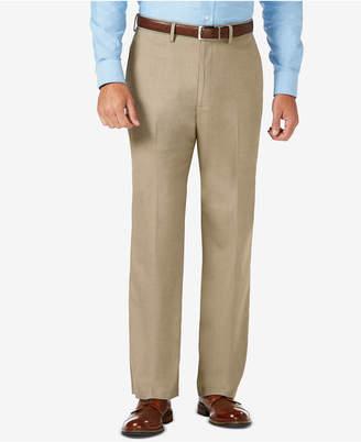 Haggar J.m. Classic Fit Flat Front Stretch Sharkskin Dress Pant
