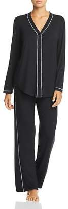 Naked Luxury Button-Front PJ Set