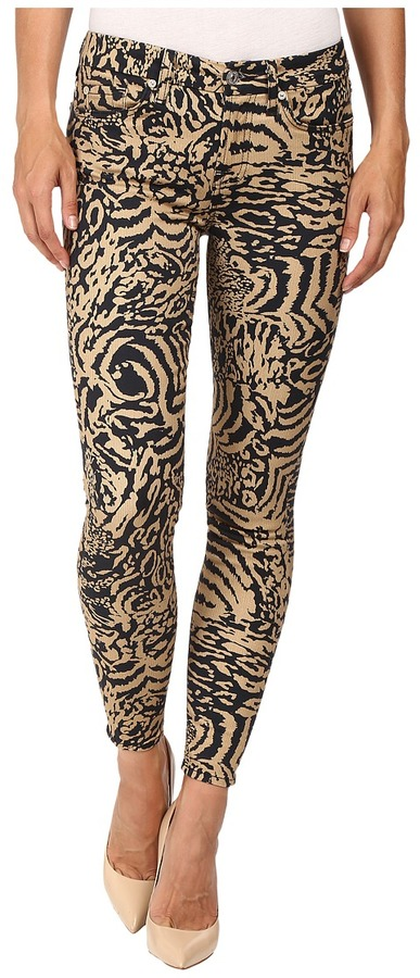 7 For All Mankind 7 For All Mankind The Ankle Skinny in Royal Leopard