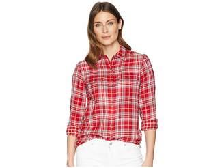 Chaps Cotton Long Sleeve Shirt Women's Clothing