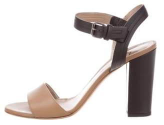Lanvin Leather Strap Sandals Brown Leather Strap Sandals