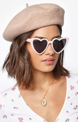 La Hearts Pink Heart Eye Sunglasses