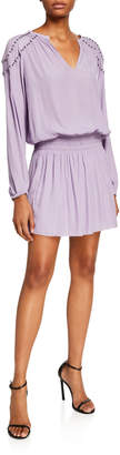 Ramy Brook Studded Drop Waist Sheath Dress
