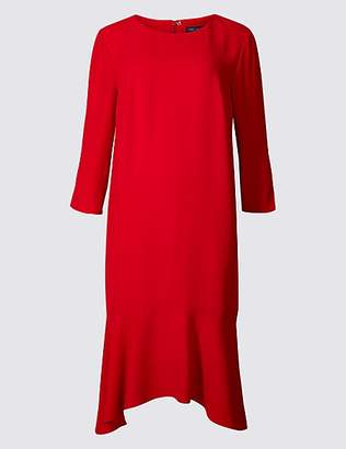 M&S Collection Crepe Fishtail 3/4 Sleeve Swing Dress