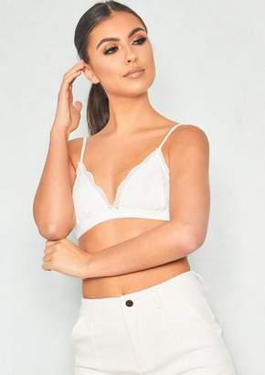 Missy Empire Missyempire Nathania White Lace Bralet