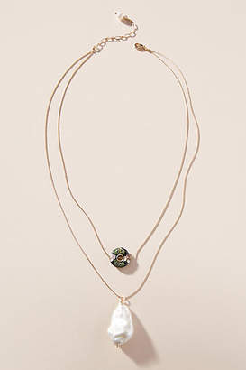 Anthropologie Aggie Pearl Necklace