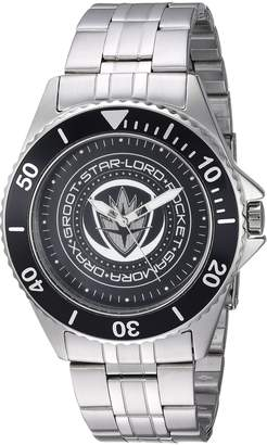 Marvel Men's 'Guardian' Quartz Stainless Steel Casual Watch, Color:-Toned (Model: WMA000098)
