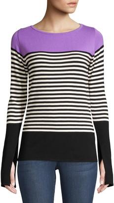 Beatrice. B Colorblock Stripe Knit Pullover