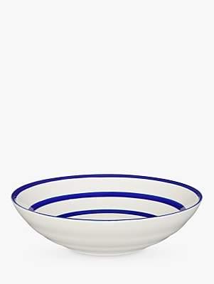 John Lewis & Partners Harbour Serving Bowl, White/Blue, Dia.30cm