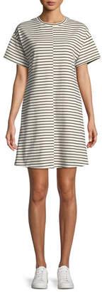 Theory Relaxed Bay Stripe Combo Shift Dress