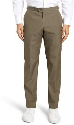 Hickey Freeman H BY H Flat Front Sidetab Solid Trousers