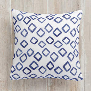 Painted Pattern - Scattered Diamonds Self-Launch Square Pillows