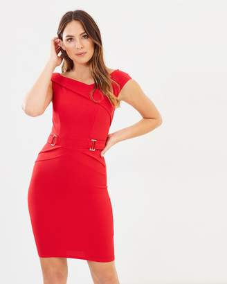 Lipsy Buckle Waist Bodycon Dress