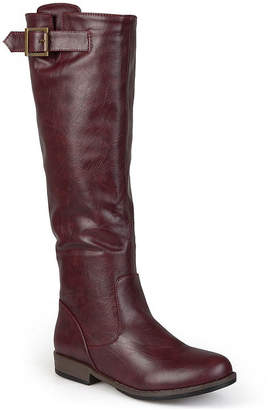 Journee Collection Amia Buckle-Accent Womens Riding Boots