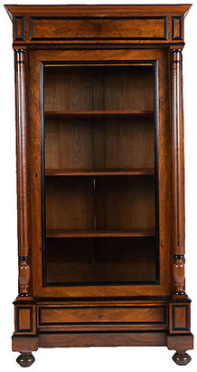 One Kings Lane Vintage Late 19th Century French Walnut Bookcase - Castle Antiques & Design