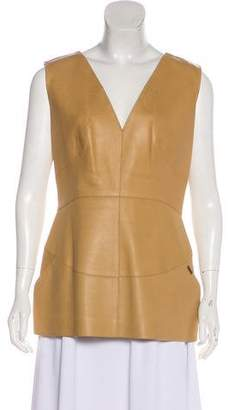 Chanel Sleeveless Leather Top