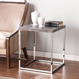 Southern Enterprises Groot Modern End Table, Gray