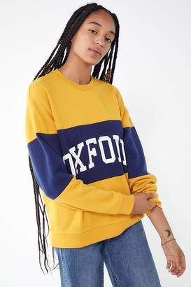 Urban Outfitters Colorblock Oxford Pullover Sweatshirt