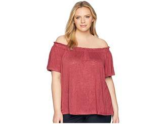 Bobeau B Collection by Plus Size Carlee Off Shoulder Tee Women's T Shirt
