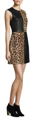 Diane von Furstenberg Paneled Mini Dress