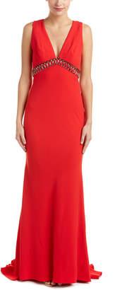 Carmen Marc Valvo Beaded Gown