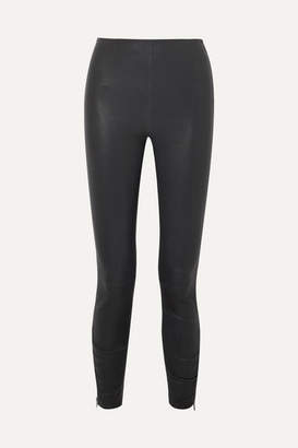 Jason Wu GREY - Stretch-leather Skinny Pants - Black