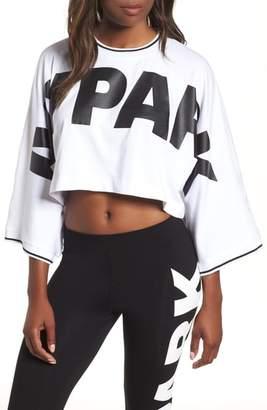 Ivy Park R) Oversize Logo Crop Tee