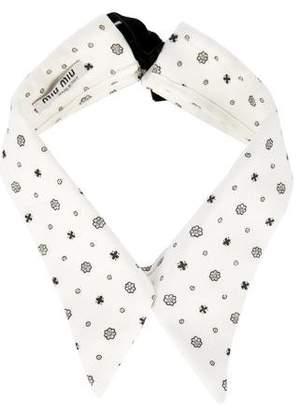 Miu Miu Medallion Print Collar