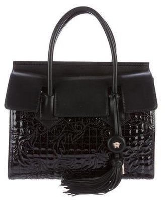 Versace Embroidered Leather Satchel $1,295 thestylecure.com