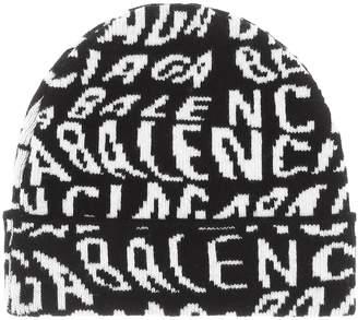 Balenciaga Logo wool beanie