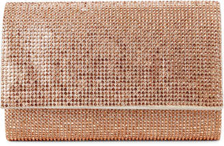 La Regale Rose Gold Sparkle Jacquard Harper Roll Clutch