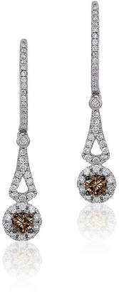 Le Vian Chocolatier LEVIAN CORP Grand Sample Sale by Chocolate & Vanilla Diamonds Earrings in 14k Vanilla Gold