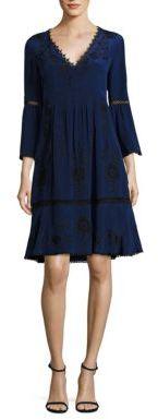 Nanette Lepore Renaissance Silk Frock Dress $598 thestylecure.com