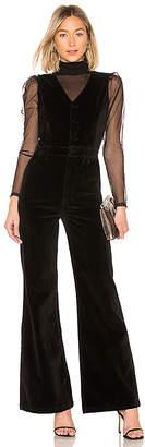Frame Velveteen Button Front Jumpsuit