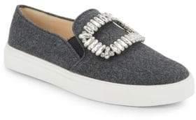 Karl Lagerfeld Paris Ermine 2 Embellished Slip-On Sneakers