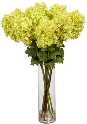Nearly Natural nearly natural Large Liquid Illusion Silk Hydrangea Floral Arrangement