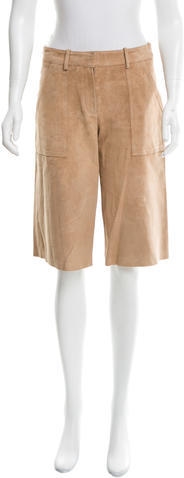 TheoryTheory Leather Wide-Leg Culottes
