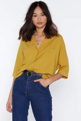 Nasty Gal Make It Big Oversized Shirt
