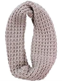 D Lux Fisherman'S Rib Cotton Knit Infinity Loop Scarf