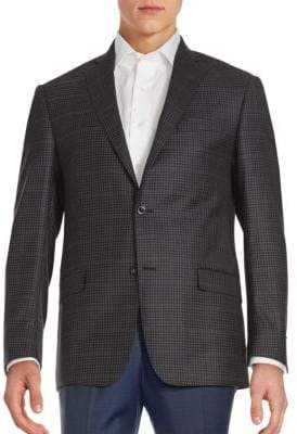 Michael Kors Checked Wool Sportcoat