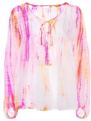 Anna Kosturova Tie-dye silk blouse