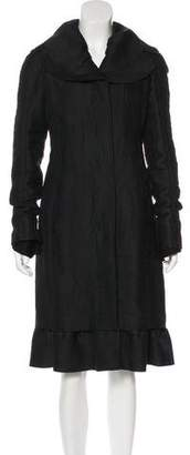 Rochas Textured Wool-Blend Coat w/ Tags
