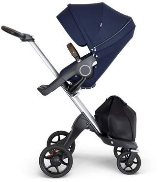 Stokke Xplory V6 Stroller - with Silver Chassis & Brown Leather